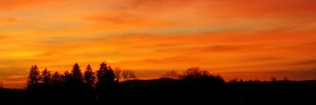 ... im Sonnenuntergang